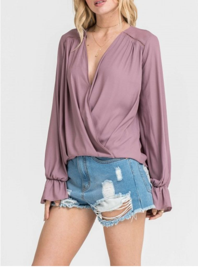 Cross Over Blouse