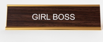Girl Boss Desk Plaque