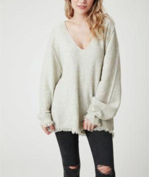 Fringe Hem Detailed Sweater