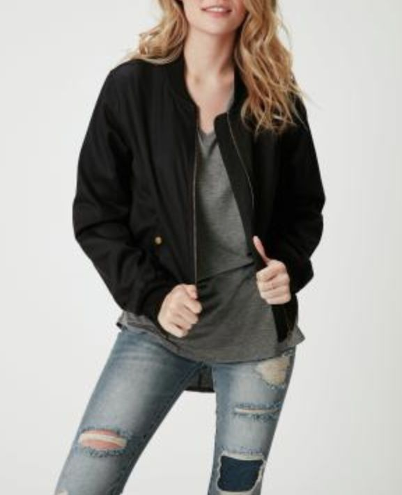 Fitted Bomber Jacket