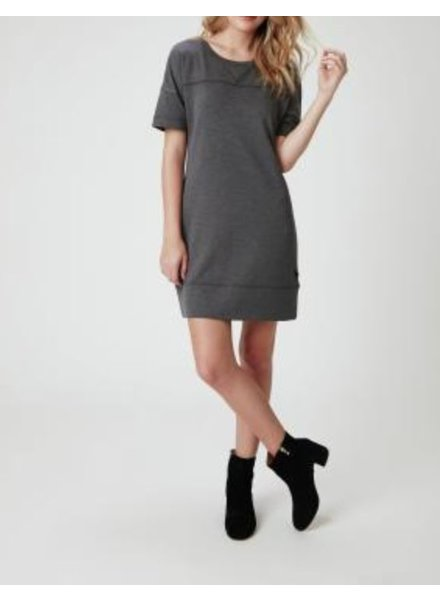 Faux Suede Shift Dress