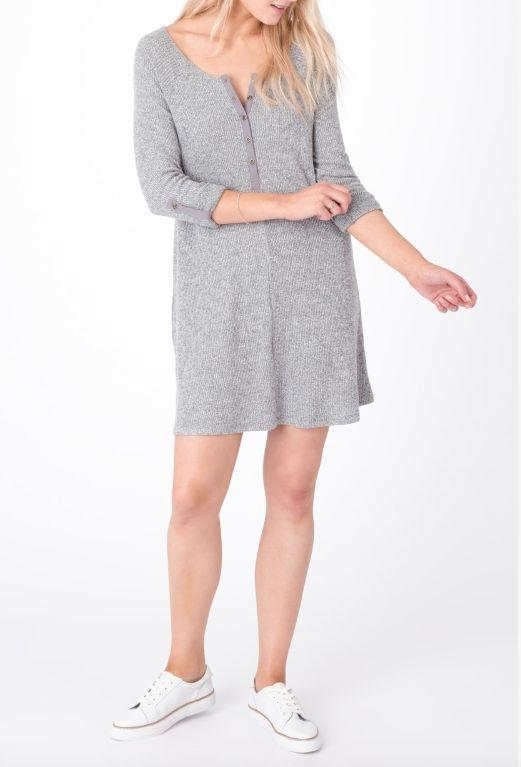 Ribbed Henley Dress