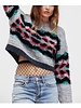 Pattern Cropped Sweater
