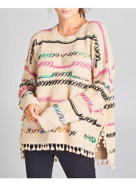 reneec. Multi Color Sweater