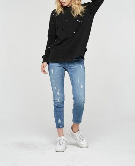 Holey Hooded Sweatshirt