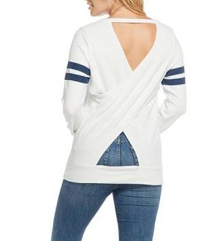Chaser Cross Back Sweater