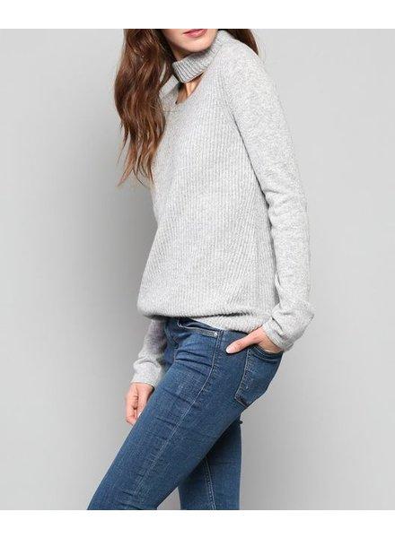 Fate Cut Out Collar Sweater