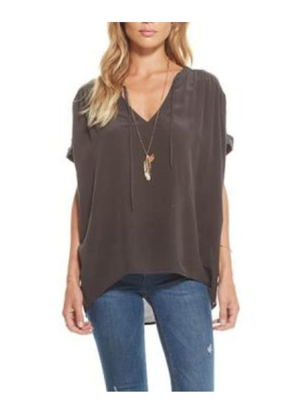 Chaser Silk Short Sleeve Blouse