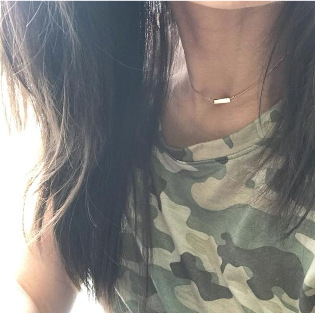 Choker Chain: Bar Plate