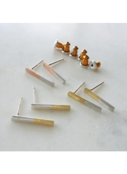 Two Tone Bar Earring