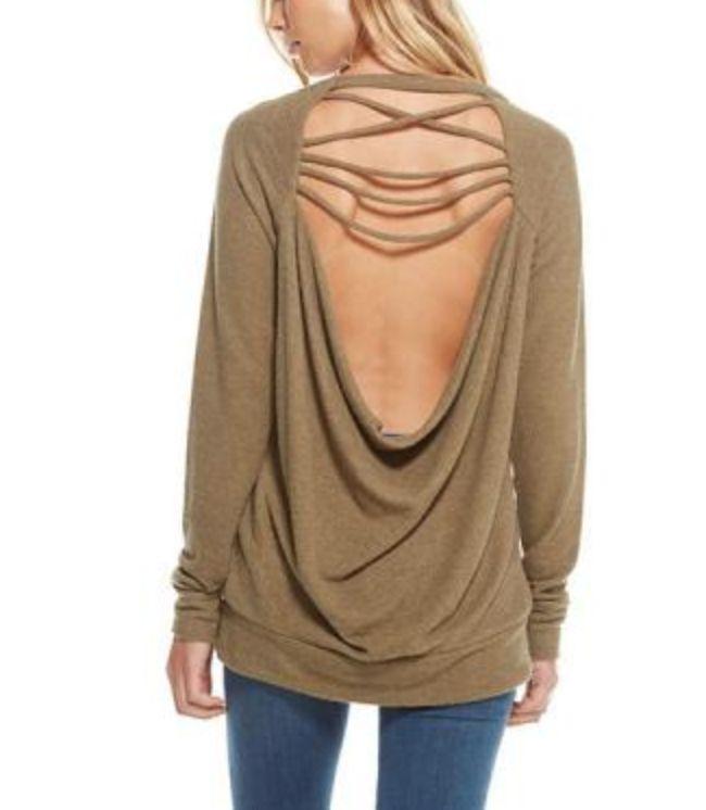 Chaser Drape Back Raglan Pullover