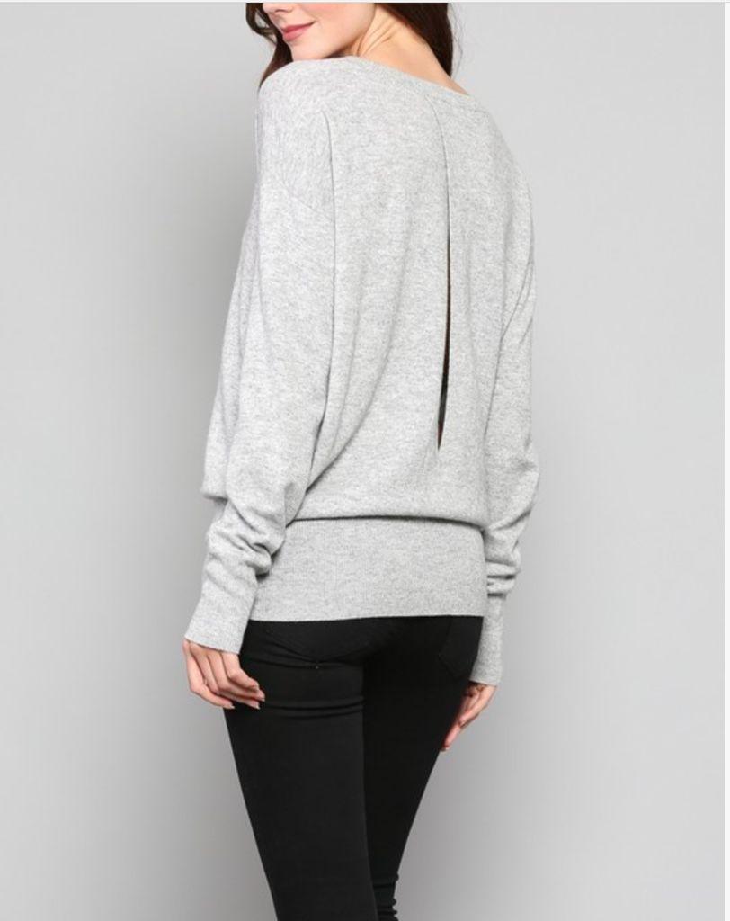 Fate Open Back Sweater