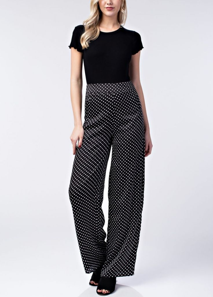 Honey Punch Polka Dot Pants
