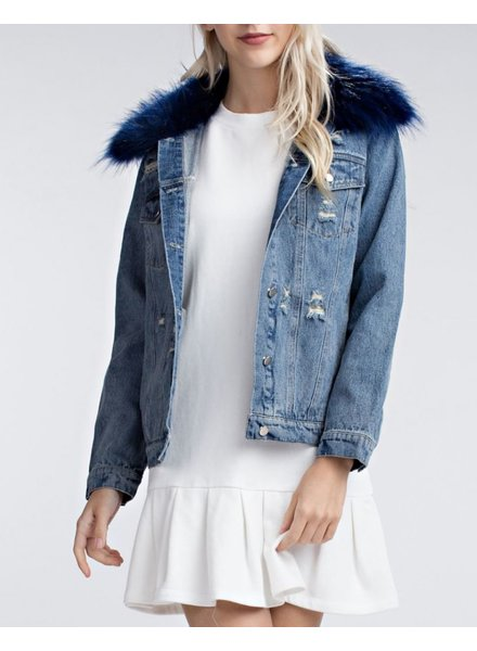 Honey Punch Faux Fur Jacket