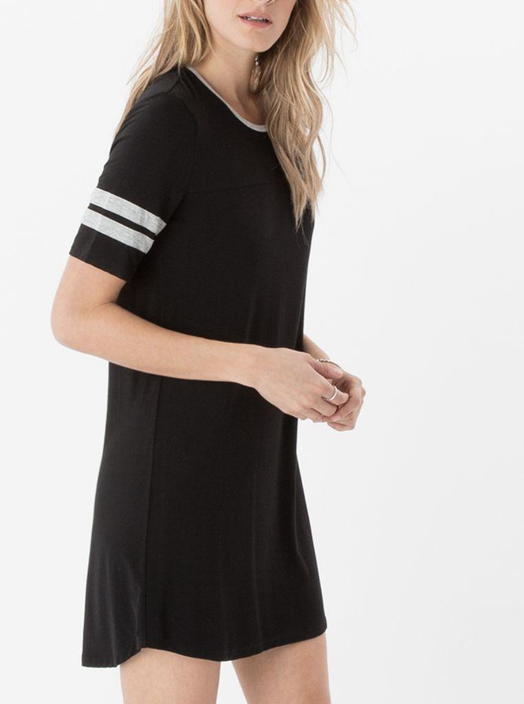 Baseball Sleeve Shift Dress
