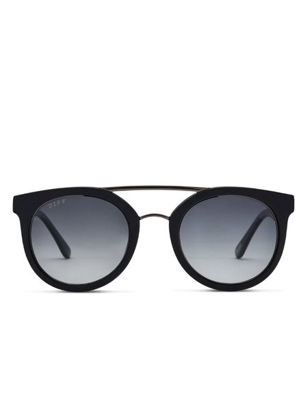 DIFF Matte Black Sunnies