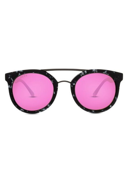 DIFF Tortoise Sunnies with Pink Lens