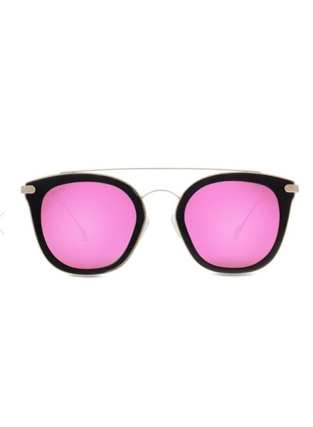 DIFF Black Sunnies with Pink Frames