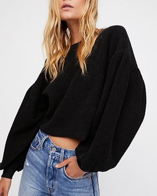 Oversized Black Pullover