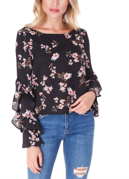 BB Dakota Floral Blouse