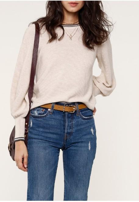 Striped Collar Sweater
