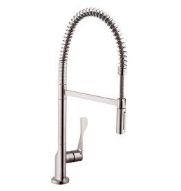 Hansgrohe Hansgrohe 39840801 Axor Citterio Semi-Pro Kitchen Faucet Steel Optik