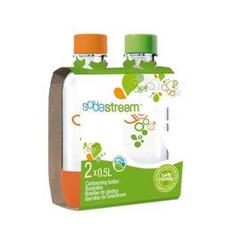 SodaStream SodaStream 0.5L Carbonating Bottles Orange/Green Smily TwinPack