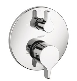 Hansgrohe Hansgrohe 04353000 S/E Thermostatic Trim With Volume Control and Diverter Chrome