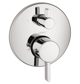 Hansgrohe Hansgrohe 04231000 S Thermostat With Volume Control & Diverter Trim Chrome
