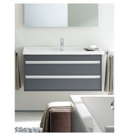 "Duravit Duravit Ketho Vanity Unit Wall Mounted 18-1/4"" x 25-5/8"" - Graphite Matt"