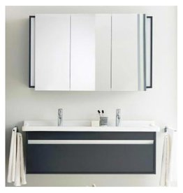 "Duravit Duravit Ketho Vanity Unit Wall Mounted 18-1/4"" x 47-1/4"" - Graphite Matt"