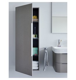 "Duravit Duravit H29250R Happy D.2 19-5/8"" x 9-1/2"" Semi-Tall Cabinet Right High Gloss White"