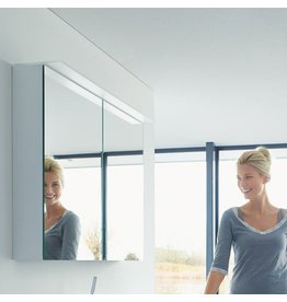 "Duravit Duravit H2759502222 Happy D.2 39-3/8"" Mirror Cabinet With Lighting High Gloss White"