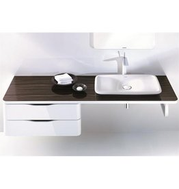 "Duravit Duravit PuraVida Console 21-5/8"" x 31-1/1"" Back to Wall - White High Gloss"
