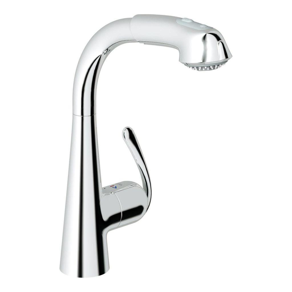 Grohe grohe 33893000 ladylux3 plus single handle kitchen faucet chrome