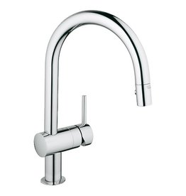 Grohe Grohe 31378000 Minta Dual Spray Down Kitchen Faucet Chrome