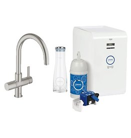 Grohe Grohe 31251DC0 Blue Chilled & Sparkling Dual Function Faucet SuperSteel