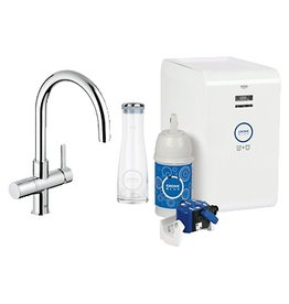 Grohe Grohe 31251000 Blue Chilled & Sparkling Dual Function Faucet Chrome