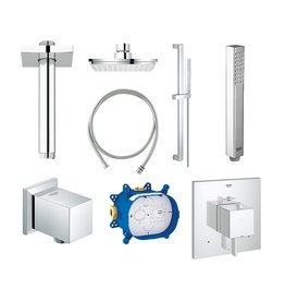 Grohe Grohe Square THM Dual Function Shower Kit - Chrome