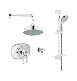 Grohe Grohe 117170 THM Dual Function Shower Kit Chrome