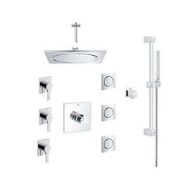 Grohe Grohe 117163 Square THM Custom Shower Kit Chrome