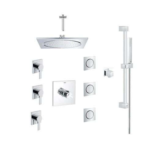 Grohe 117163 Allure Square THM Custom Shower Kit Chrome - Home ...