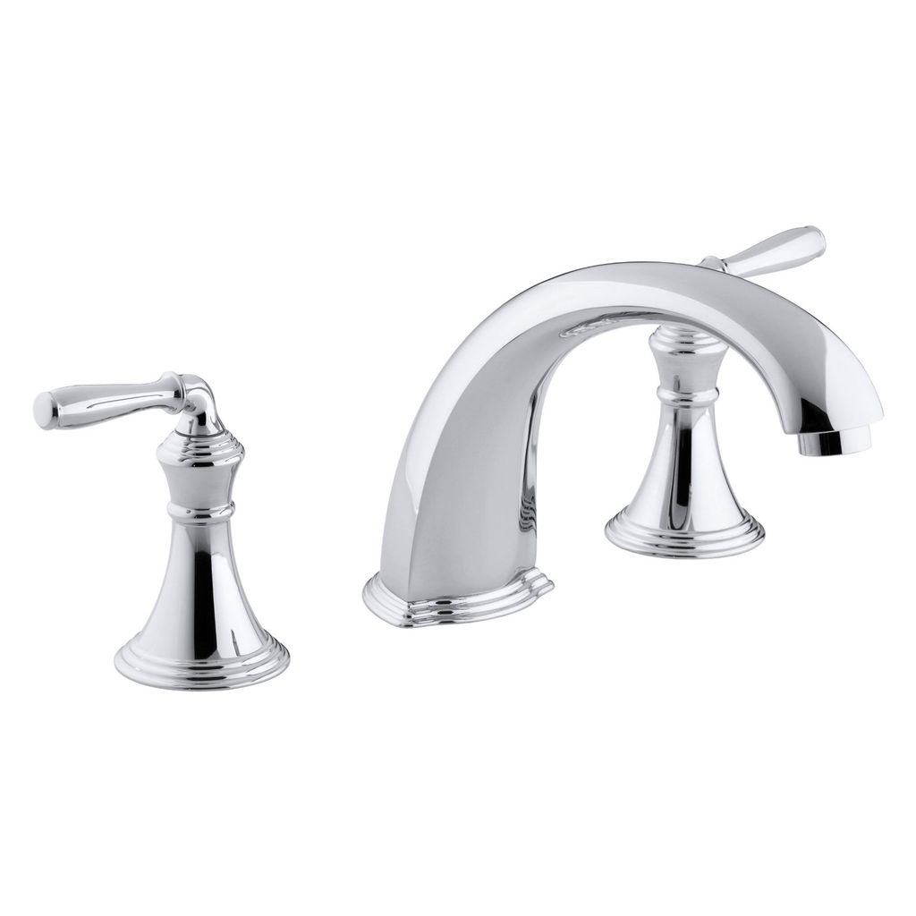 Kohler T398 Devonshire Deck Mount Bath Faucet Trim - Chrome - Home ...