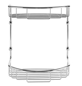 Laloo Laloo 3413C Double Wire Basket Chrome