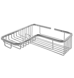 Laloo Laloo 3391C Corner Soap And Bottle Wire Basket Chrome