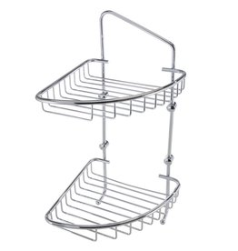 Laloo Laloo 3383C Corner Double Wire Basket Chrome