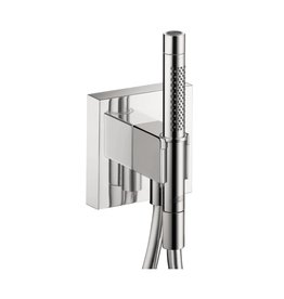 Hansgrohe Hansgrohe 12626001 Axor Starck Organic Handshower Porter With Outlet & Handshower Chrome
