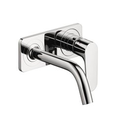 Hansgrohe Hansgrohe 34115001 Axor Citterio M Wall Mounted Single Handle Faucet Trim With Base Plate Chrome