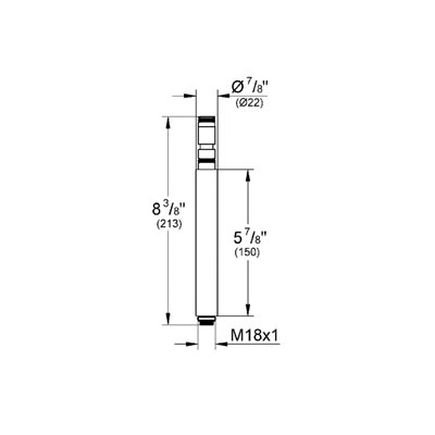 Grohe 27921000 retro fit 6 bar height extension home comfort centre grohe grohe 27921000 retro fit 6 bar height extension chrome ccuart Image collections