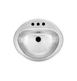 Kindred Kindred 18 Gauge Stainless Steel Drop-in Vanity Basin
